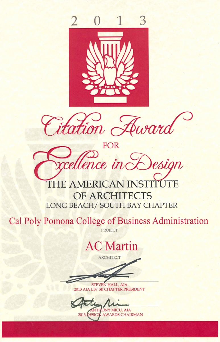 aia long beach awards cal poly pomona